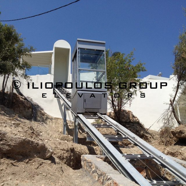 Teleferik (Inclined Lift) In Rodos, Dodekanese.