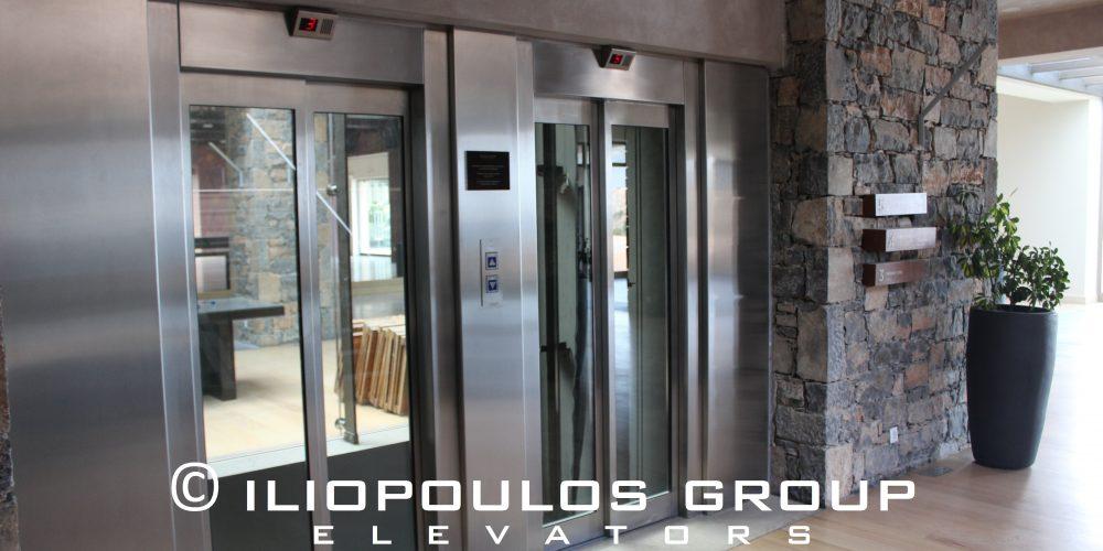 Elevator in Hotel In Elounda, Crete.